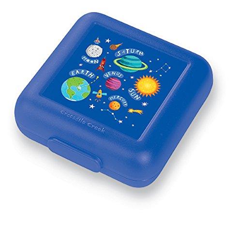 Snackbox / Brotdose für Kinder, Weltraum, Größe: 14x14x5