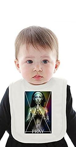 Dirty Nun Religion Organic Bib With Ties Medium
