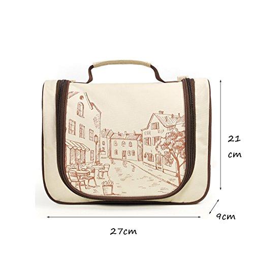 CLOTHES- Sacchetto di spostamento di viaggio sacchetto di immagazzinaggio cosmetico portatile di Digitahi portatile ( Colore : Cielo blu ) Cielo blu