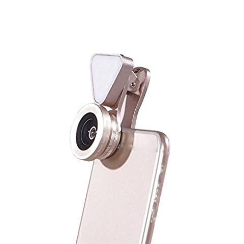 LIEQI LQ-035 Phone Lens 3 in 1 Led Flash lights with Wide Angle+15X Macro Lens 3 Levels light kit for iPhone 7 6 iPad Huwawei Xiaomi