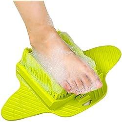 Tmade Douche Pied à récurer Nettoyant exfoliant Pieds masseur Spa pour douche avec ventouse Améliore la circulation de pied et réduit les douleurs Pieds