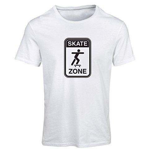 Maglietta Donna Skate zone Bianco Nero