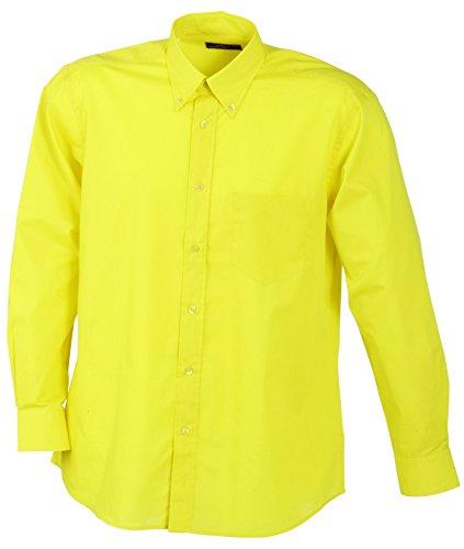 James & nicholson men's promotion shirt long-sleeved, camicia sportiva uomo, gelb (yellow), xxx-large