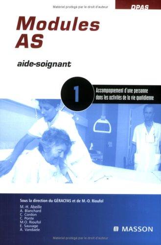 Modules AS - 1 - Activit de la vie quotidienne: POD
