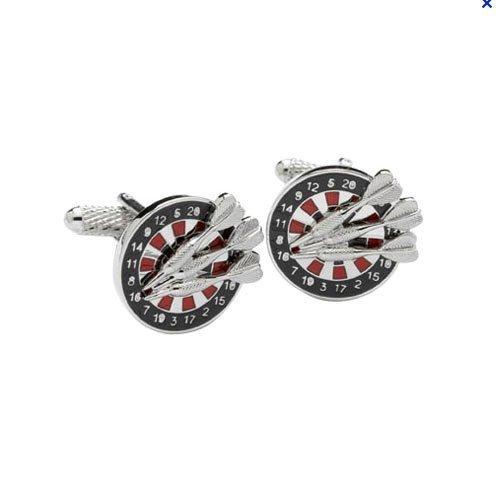Price comparison product image Darts & Board Pub Sports Cufflinks in Gift Box - Onyx-Art London CK240