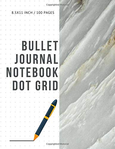 Bullet Journal Notebook Dot Grid: Cheap Composition Journals Books College Ruled To Write In Letter Paper Size 8.5 X 11 Volume 44 (Twin Antique White)