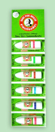 Preisvergleich Produktbild 6 Tube Medicated Oil Siang Pure Aroma Inhaler