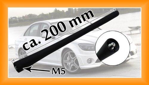 1 Myshopx Antenne de voiture /à tige courte Antenne de toit 20/cm/// filetage M5 T/él/éphone TV Radio 16V