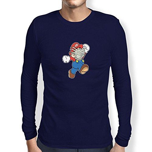 NERDO Mario Face Hug - Herren Langarm T-Shirt, -