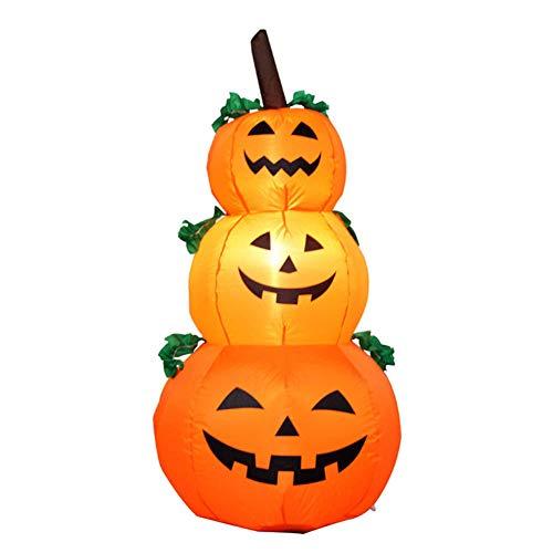 XIAOYUB Halloween-Kürbis-aufblasbare Geist-Dekoration Automatische aufblasbare dekorative Garten-Dekoration LED-Beleuchtung 1.2 - Aufblasbares Kürbis Kopf Kostüm