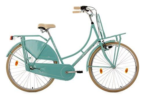 KS Cycling Damen Fahrrad Hollandrad Tussaud 3-Gang mit Frontgepäckträger RH 54 cm, mint, 28 Zoll, 326H