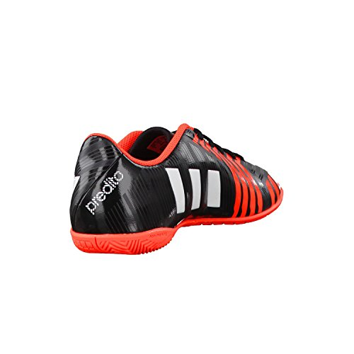 adidas - Predito Instinct Indoor, Scarpe da calcio per bambini e ragazzi - nero/rosso/bianco