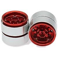 RCAWD 1.9 Aleación de aluminio de la rueda del estilo de Beadlock para Rc Hobby Modelo