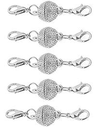 MagiDeal 5 Stücke Magnetverschlüsse mit Doppeltem Karabinerhaken für Halskette Armband