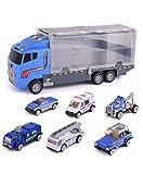 GAO Il Grande Set di Camion per Container elimina Veicoli di ingegneria, Camion dei Pompieri, Veicoli di Soccorso, Veicoli Militari, Automobili in Lega
