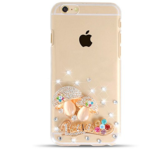 iphone6 6s 4.7 pollici Lite Custodia di silicone TPU Custodia Cover Case for iPhone 6 6S trasparente Nnopbeclik® Ultra Slim, grazioso bellezza custodia protettiva modello lucido glitter diamante stras Pilz
