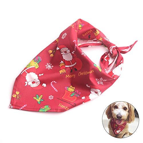 Rocita 1 Stück Hundehalstuch Weihnachten Haustierhalstuch Bandana Kopftuch für Kleine, mittelgroße und große Hunde Katze Haustier Zubehör, Weihnachtsmann