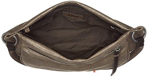 s.Oliver (Bags) - 39.711.94.5996, Borse a secchiello Donna Argento (Gun Metal)