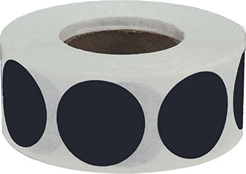 Schwarz Kreis Punkt Aufkleber, 19 mm 3/4 Zoll Runde, 500 Etiketten auf einer Rolle