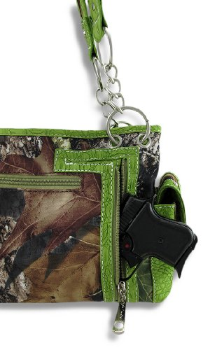 Zeckos , Damen Schultertasche grün