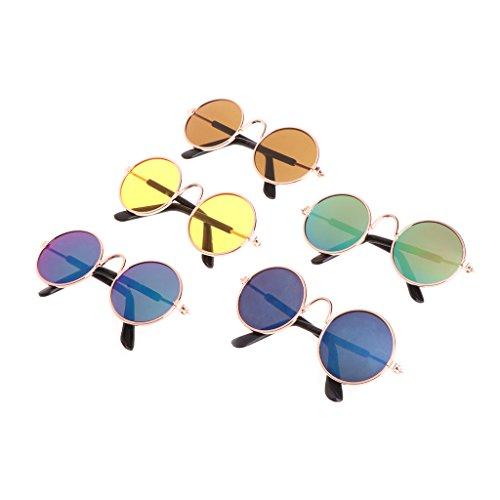 Kathope Kleines Haustier Katze Hund Mode Sonnenbrille UV Schutz Brillen Fotos Requisiten Cool Hot