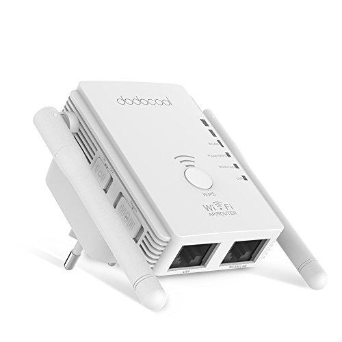 Ripetitore wireless Wi-Fi velocità 300Mbps dotato di  2 antenne