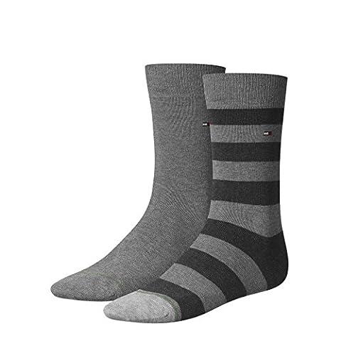 TOMMY HILFIGER Herren Rugby Socken 8er Pack, Größe:43-46;Farbe:middle grey melange