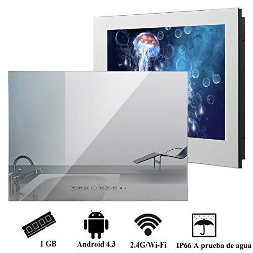 Soulaca 'innovativtv baño Inteligente LED Andriod TV Espejo Frontal 22 Pulgadas Resistente al Agua IP66 con Wi-Fi Incorporado