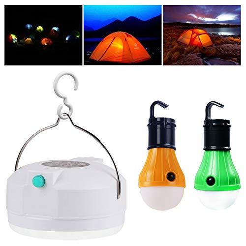 Hootracker LED Tent Lamp Campinglampe mit USB Power-Bank Akku-Pack Outdoor Campinglaterne Taschenlampe Camping Lampe; Wieder-aufladbar; superhell; 4000mAh(3pcs) (Camping-lampe Und Power Bank)