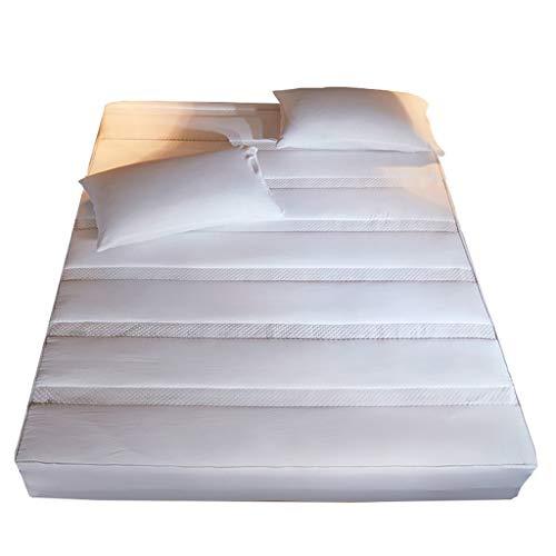 LFY Matratzenschoner aus Baumwolle Twin-XL, Zarte Steppdecke All-Inclusive Bettdecke