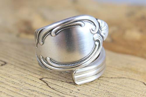 Rokoko Besteckschmuck Ring, ca. 64 (20,5) Ring aus Besteck