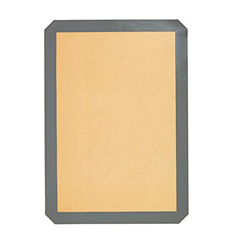 TOOGOO Wiederverwendbarer Umweltschutz Silikon Backmatte Antihaft-Silikon-Ofenmatte Teig Rollmatte Backmatte Gebaeck Clay Pad Blatt Liner Non-Stick Dish grau 30 x 20cm -