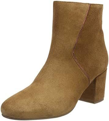 Marc O'Polo Damen Mid Heel Bootie 80114176101300 Schlupfstiefel, Grau (Taupe), 38 EU