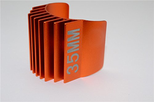 Preisvergleich Produktbild Aluminium Motor Heat Sink Mount 35mm For 1/10 05, 540, 360 Moto r- 1Pc Orange