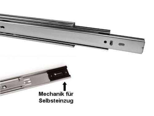1 Stück SO-TECH® Vollauszug 250 mm mit Selbsteinzug 45 Kg Tragkraft Schubladenschiene Teleskopschiene