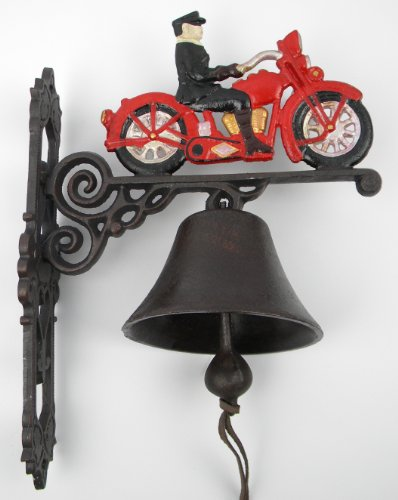 Wandglocke Türglocke Gusseisen Glocke Motorrad Harley Geschenkidee Biker Club