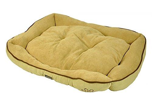 nanook Hundebett XL Gavin 90 x 65 cm beige - pflegeleicht und kuschelweich
