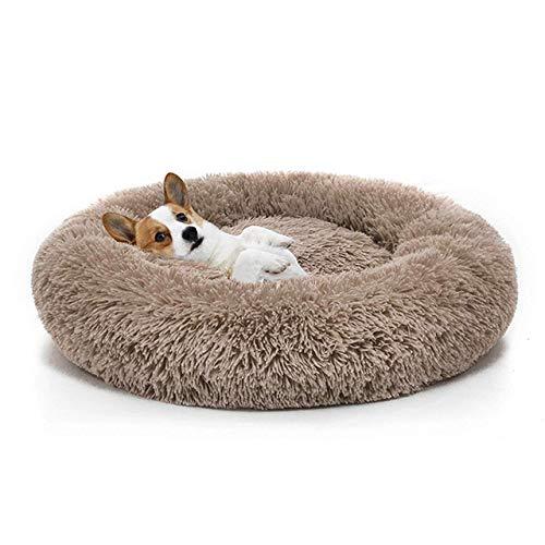 LuckyGGG Warme Fleece Hundebett 7 Größe Runde Pet Lounge Chair Mat Winter Zwinger Hund Mat Pet Bett -