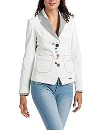 Desigual Abrigo Manga Larga para Mujer Talla 46 Color Blanco