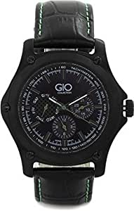 Gio Collection Analog Black Dial Men's Watch - G0072-01