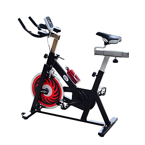 homcom Cyclette per Spinning Professionale Training Cardio Bike 105 × 45 × 95cm Nero
