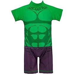 Marvel Bañador para Niño El Increible Hulk Verde 3-4 Años