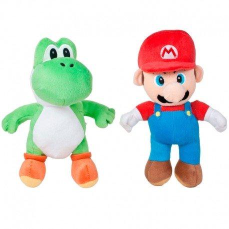 Super Mario Peluche Mario Yoshi Bros 27cm