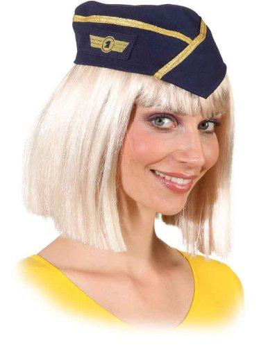 Mütze: Stewardess-Mütze, dunkelblau