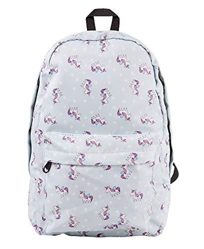 Zalock Schultasche Taschen Getragen Zurück College School Canvas Rucksack Große Kapazität Persönlichkeit Druck Rucksack Laptop-Tasche für Grundschule Travel College