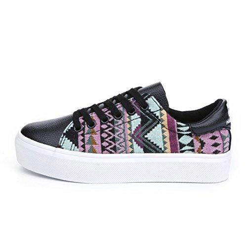 Baskets basses de printemps/Éolienne nationale coréenne sangle chaussures sport mode féminine/Chaussures de Conseil B