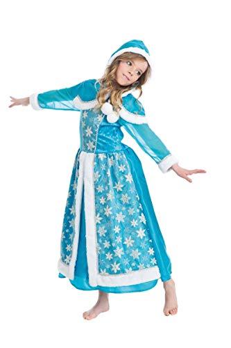 Chaks c4120128, Kostüm Königin der Eis 128cm, 7-9Jahre (Eis Fee Kostüm)