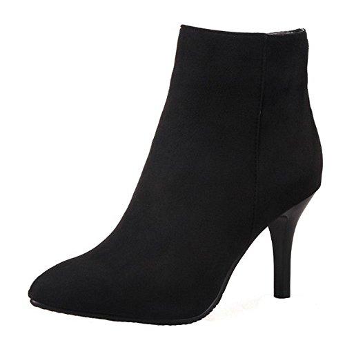 RAZAMAZA Mujer Botines Tacones altos Moda Zapatos Side Cremallera Botas de invierno (39 EU,Red)