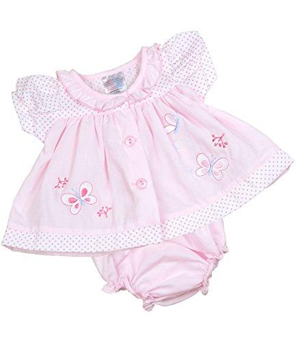 BabyPrem Frühchen Kleidchen & Höschen Set Mädchen Babykleidung Schmetterling 38-44cm ROSA (Höschen Set Mädchen)