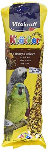 Vitakraft Kracker Papageienfutter, Honiganis, 5 Stück -
